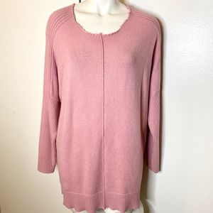 Time and Tru Pink Scoop Neck Sweater L